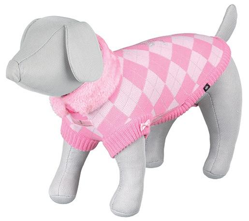 Svetr pro psy Trixie S Dog Princess růžová 33cm