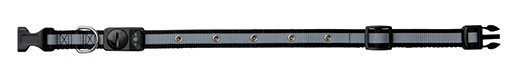 Obojek blikací a reflexní pro psy Trixie L-XL černá 55-70cm*25mm