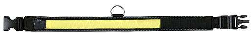 Obojek Flash blikací pro psy Trixie L-XL černo-žlutá 55-70cm*35mm