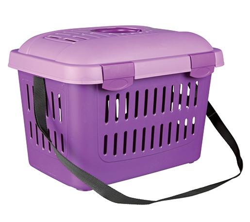 Přepravka pro psy Trixie Midi-Capri 44*33*32 fialovo-fialová