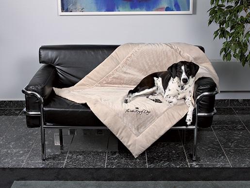 Deka pro psy Trixie King of Dogs béžová 125*100cm