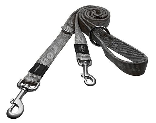 Vodítko ROGZ Alpinist přepínací stříbrné L
