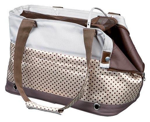 Taška přenosná pro psy Trixie Marilla 18*21*45cm hnědo-béžovo-šedá