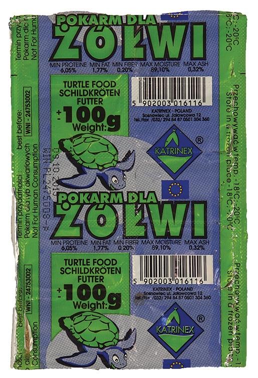 Krmivo KATRINEX Turtle Food mražené 100g