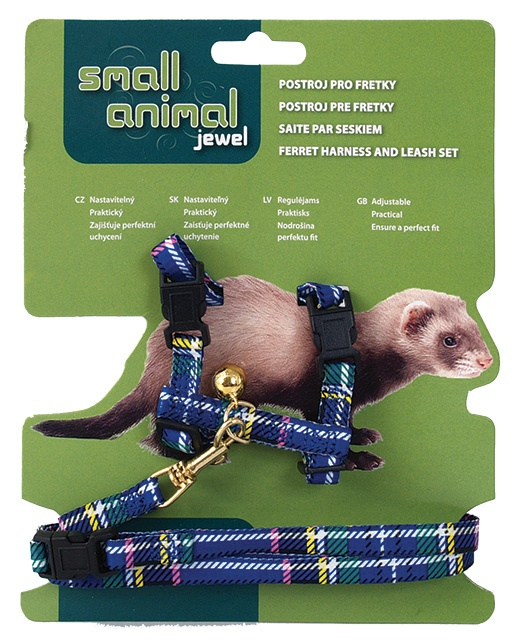 Postroj SMALL ANIMAL pro fretky modrý