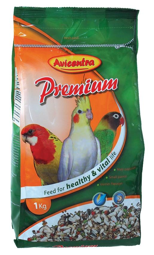 Krmivo AVICENTRA premium pro malé a střední papoušky 1kg