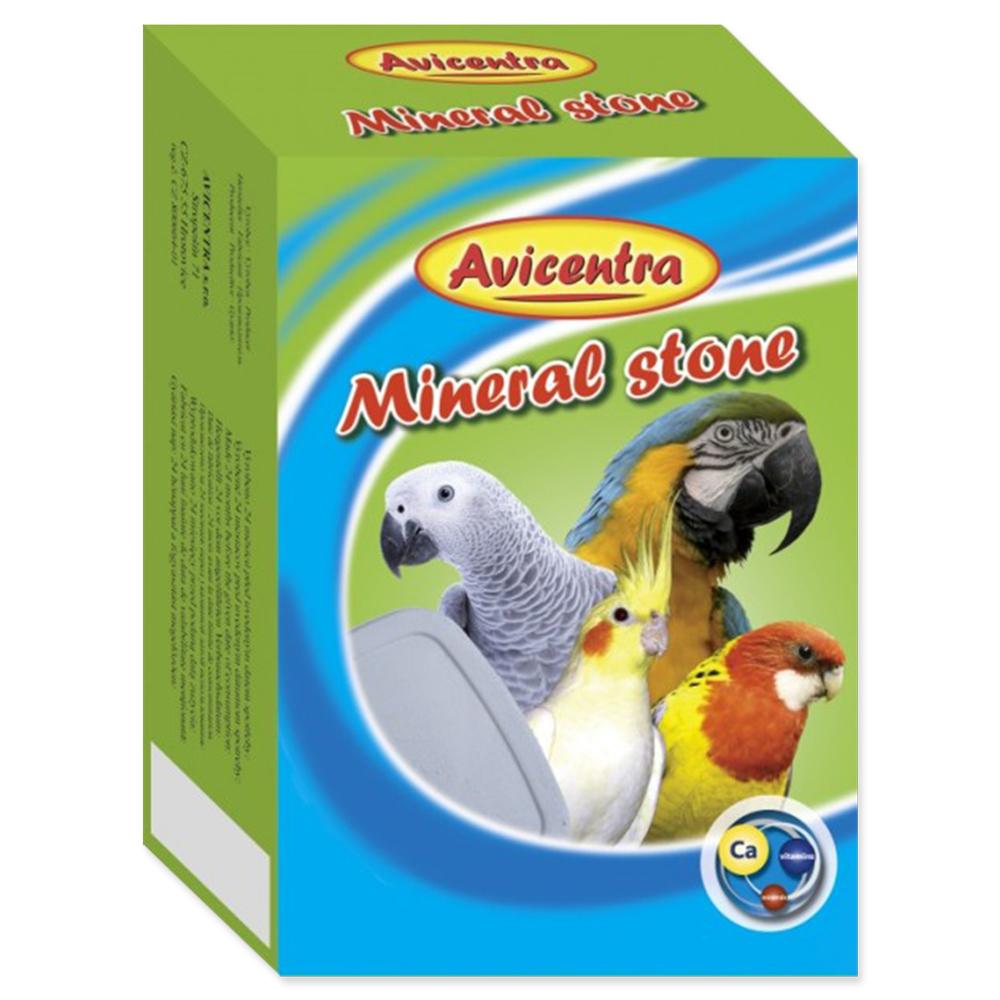 Blok minerální AVICENTRA s drcenými mušlemi pro papoušky