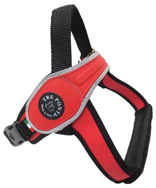Treponti Postroj TRE PONTI reflexní od 40 do 60 kg červený
