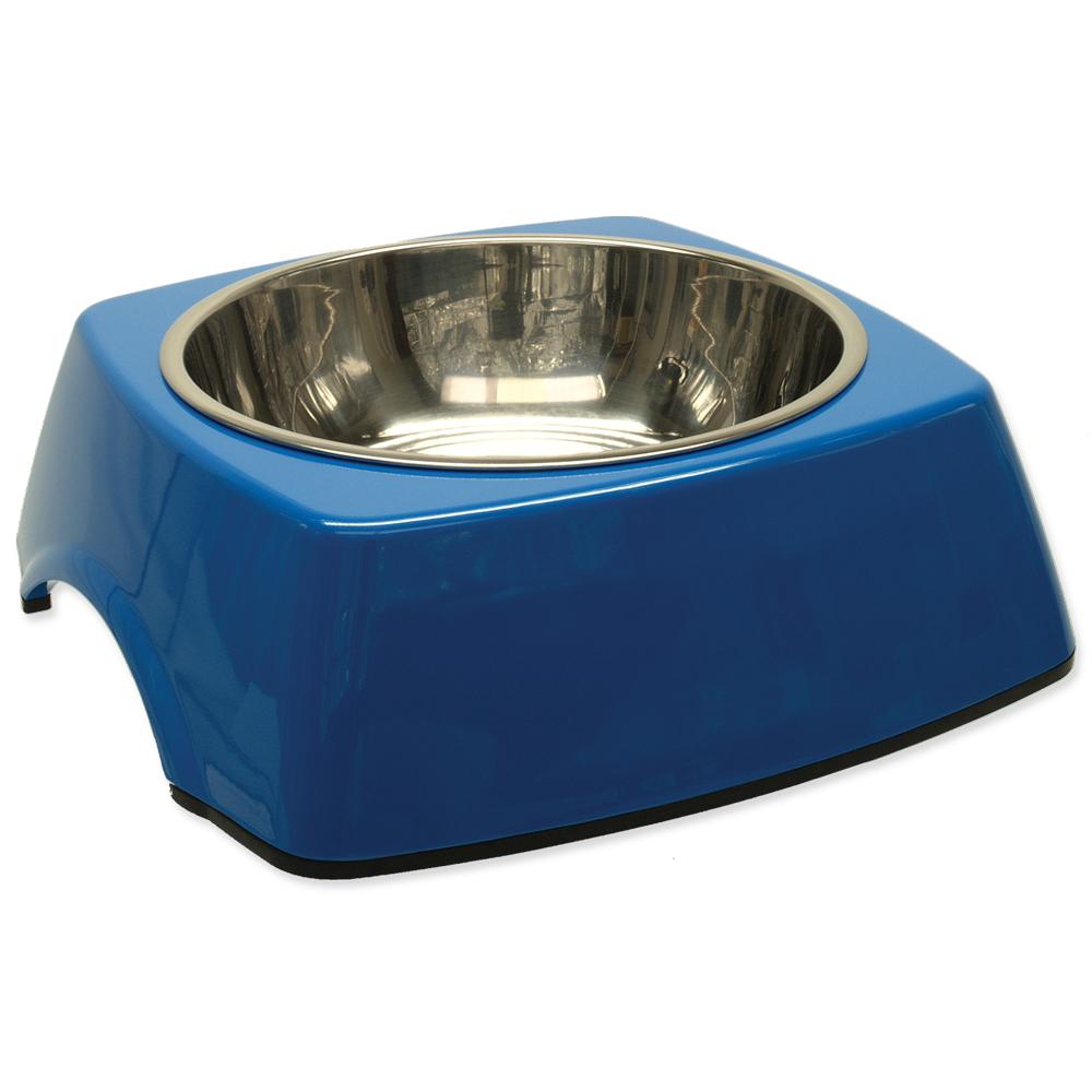 Miska DOG FANTASY nerezová čtvercová modrá L 0.7l