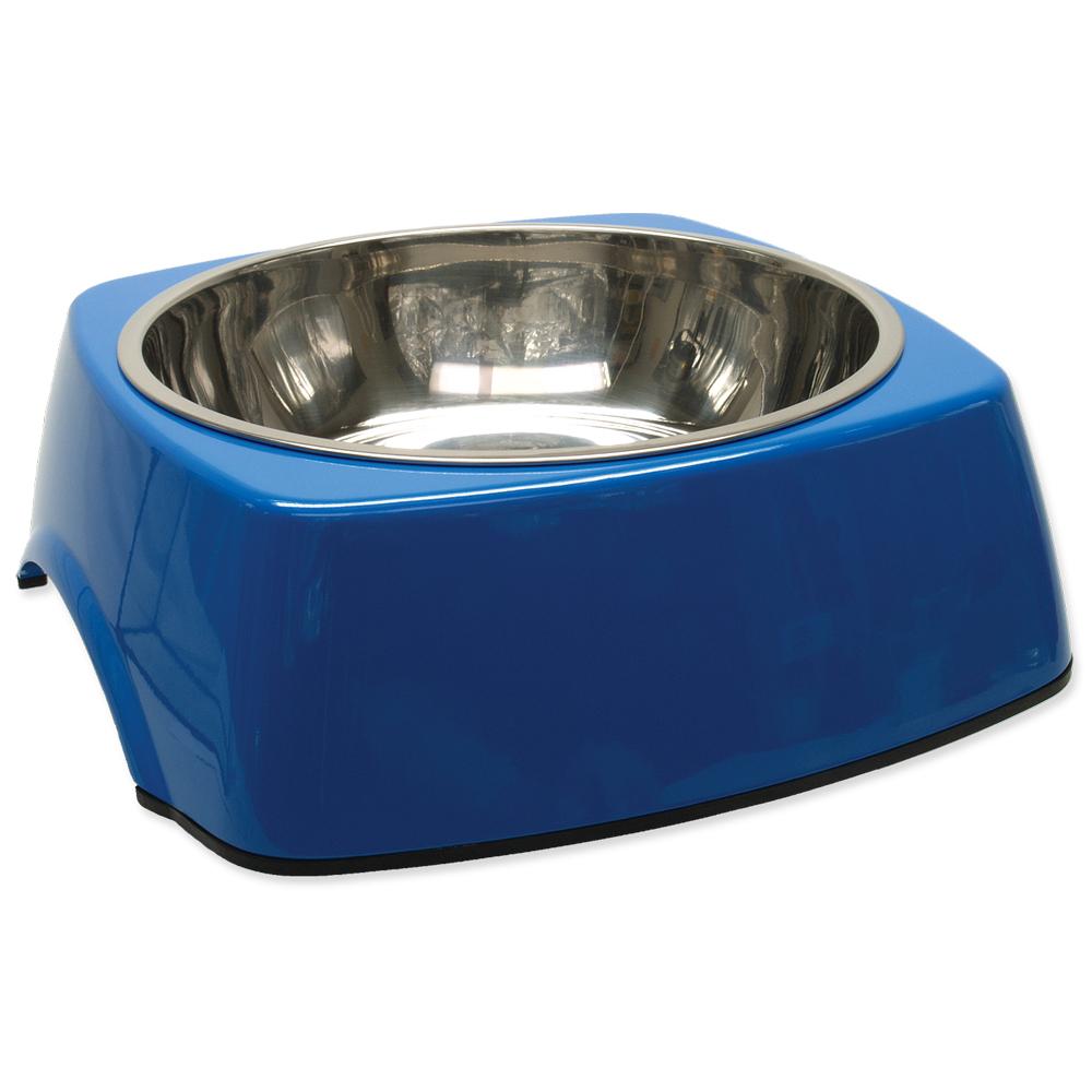 Miska DOG FANTASY nerezová čtvercová modrá XL 1.4l