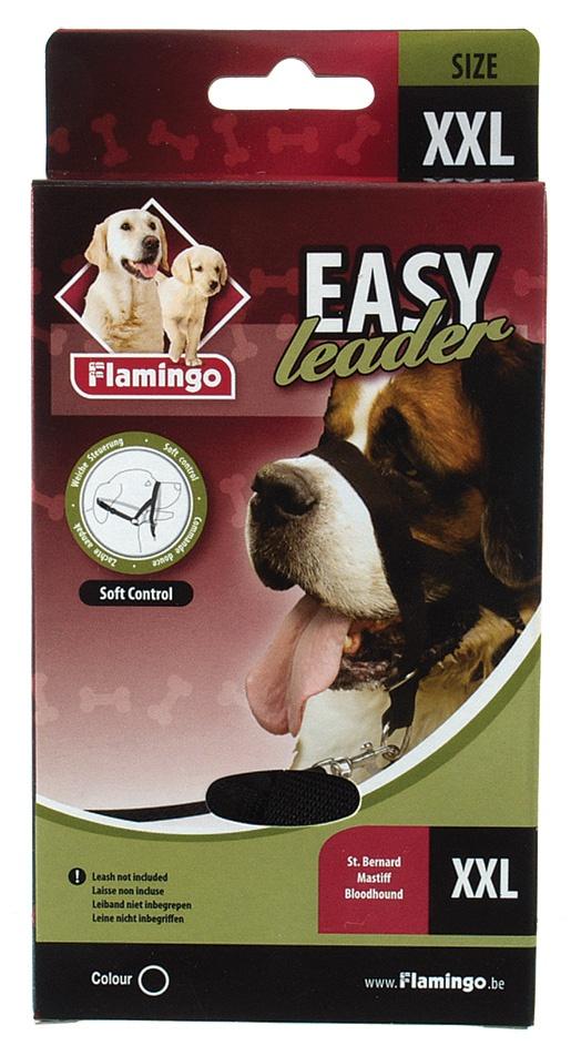 Ohlávka FLAMINGO Easy leader černá XXL
