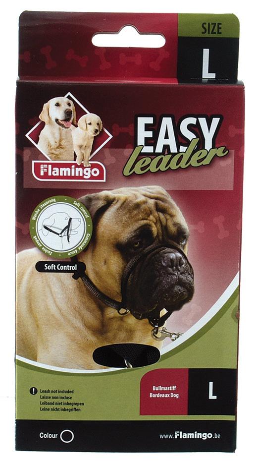Ohlávka FLAMINGO Easy leader černá L