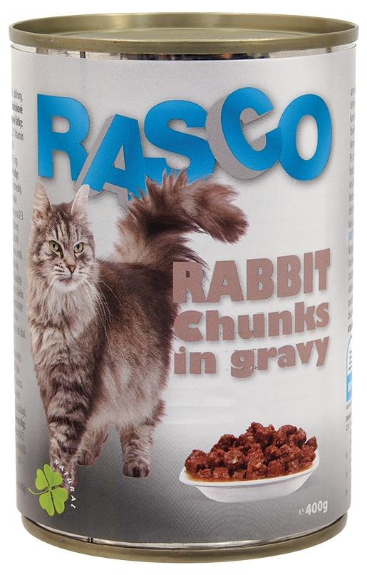 Konzerva Rasco králičí kousky ve šťávě 400g