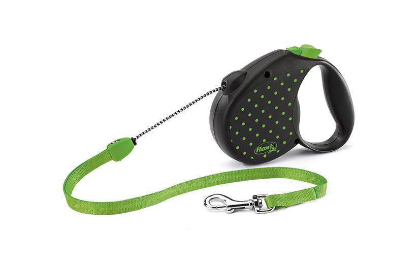 Vodítko Flexi Color Dots lanko zelené M 5m