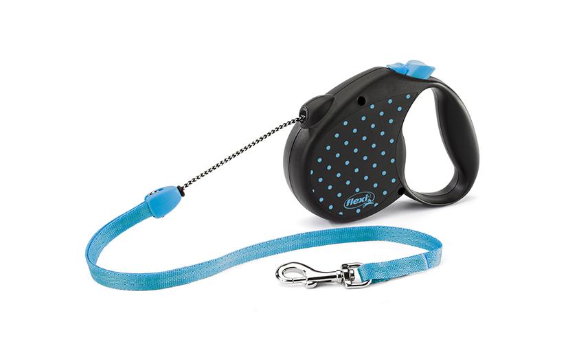 Vodítko Flexi Color Dots lanko 5m modré M