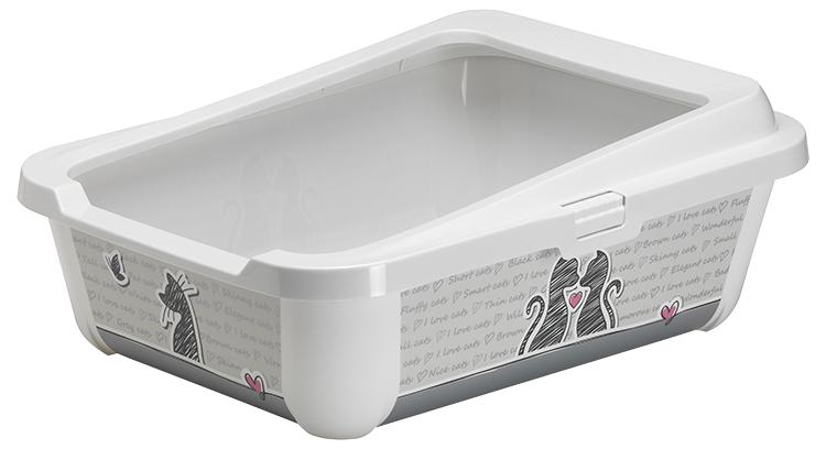 Magic Cat Toaleta Trendy s okrajem 51x39,5x19 cm šedá