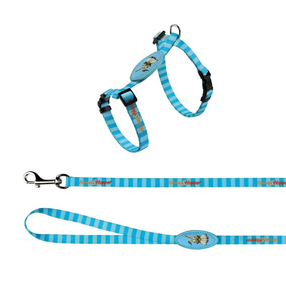 Postroj s vodítkem pro hlodavce Trixie Králík modrá 25-45cm*10mm*1,2m