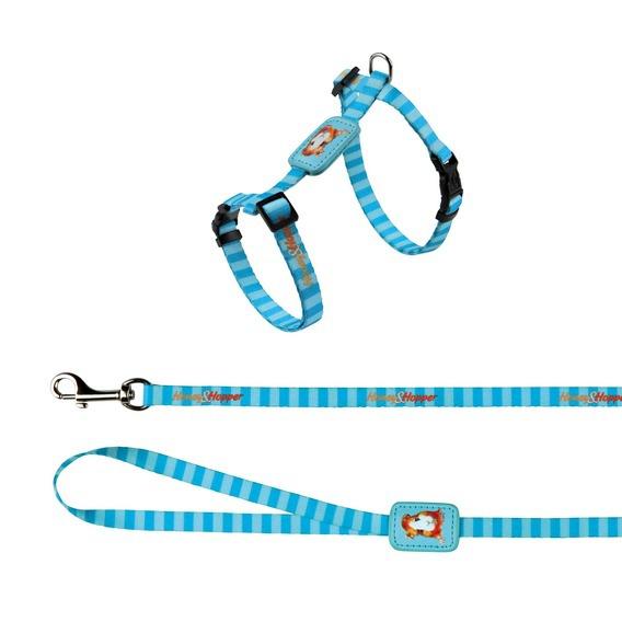 Postroj s vodítkem pro hlodavce Trixie Morče modrý 25-45cm*10mm*1,2m