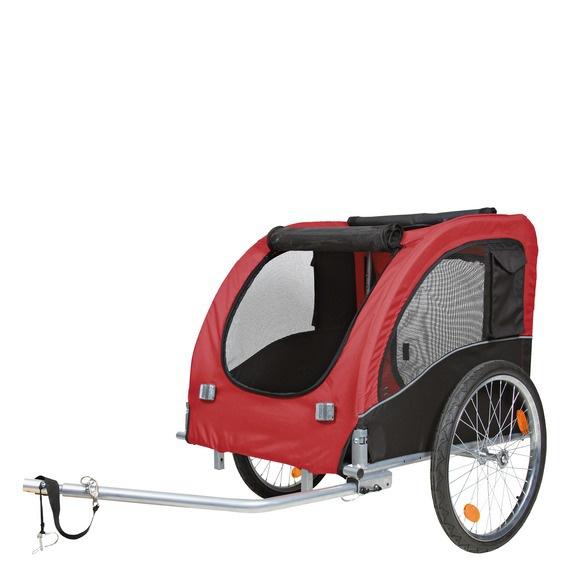 Vozík pro psy Trixie L 58x52x79cm černo-červený