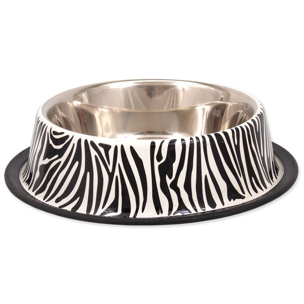 Miska DOG FANTASY nerez s gumou zebra 2,8l 33cm