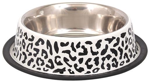Miska DOG FANTASY nerez s gumou leopard 0,45l 20cm