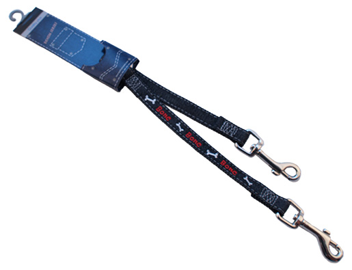 Rozdvojka DOG SQUARE Denim jeansová 25 - 28 cm
