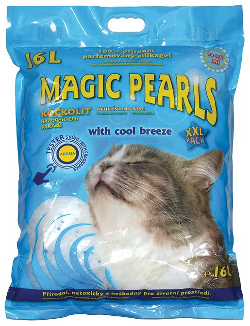 Kočkolit MAGIC Pearls Litter s vůní Cool Breeze 16l