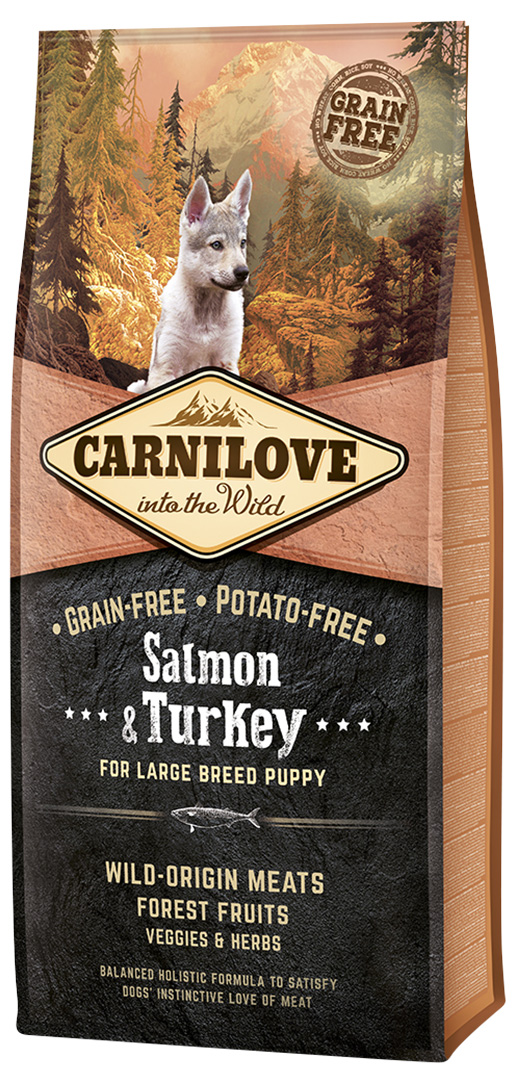 Carnilove Salmon & Turkey for Large Breed Puppy 12kg