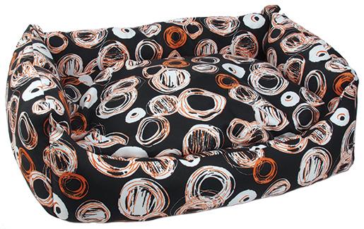 Sofa DOG FANTASY voděodolné Kroužky černo-béžové 120 cm