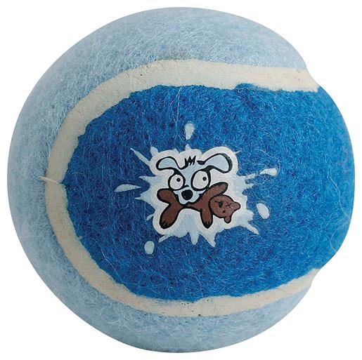 Hračka Rogz tenisák Molecules dvoubarevný modrý 5cm