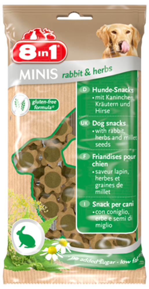 Pochoutka 8in1 Minis Rabbit&Herbs 100g