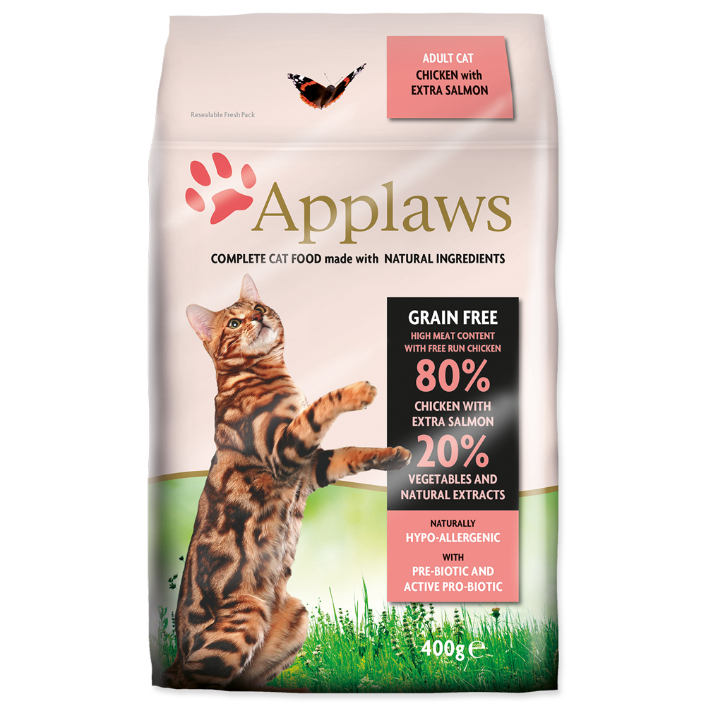 Krmivo Applaws Dry Cat kuře & losos 400g