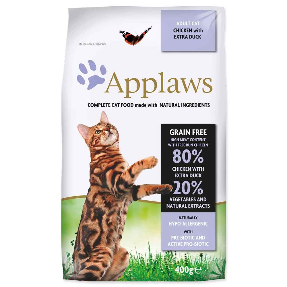 Krmivo Applaws Dry Cat kuře, kachna 400g