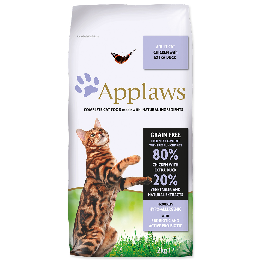 Krmivo Applaws Dry Cat kuře, kachna 2kg