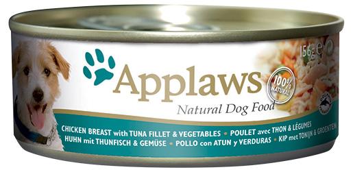 Konzerva Applaws Dog kuře, tuňák & rýže 156g