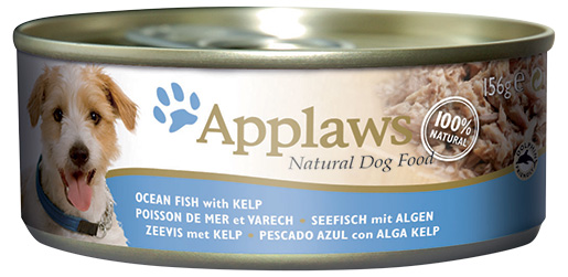 Konzerva Applaws Dog mořská ryba s řasou 156g
