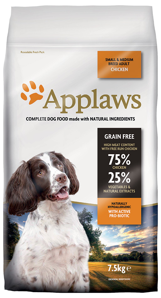 Krmivo Applaws Dry Dog Chicken Small & Medium Breed Adult 7.5kg