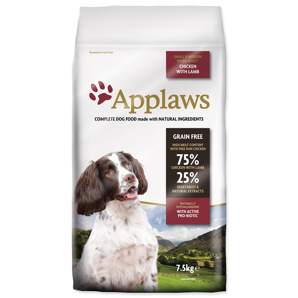 Krmivo Applaws Dry Dog Lamb Small & Medium Breed Adult 7.5kg