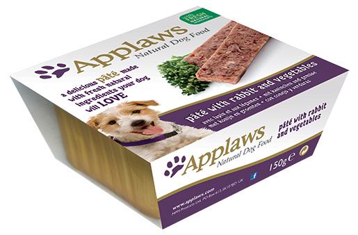 Paštika Applaws Dog králík & zelenina 150g