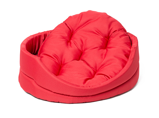 Pelech Dog Fantasy ovál s polštářem červený 83cm