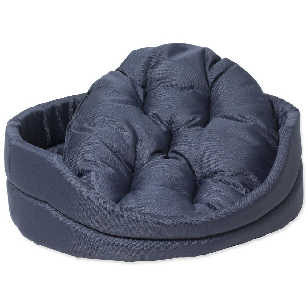 Pelech Dog Fantasy ovál s polštářem tmavě modrý 91cm