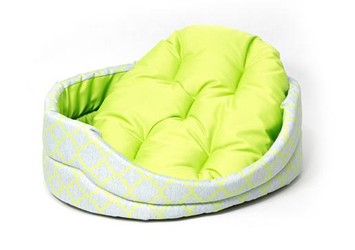 Pelech Dog Fantasy ovál s polštářem ornament zelený 102cm