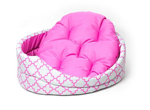 Pelech Dog Fantasy ovál s polštářem ornament růžový 77cm