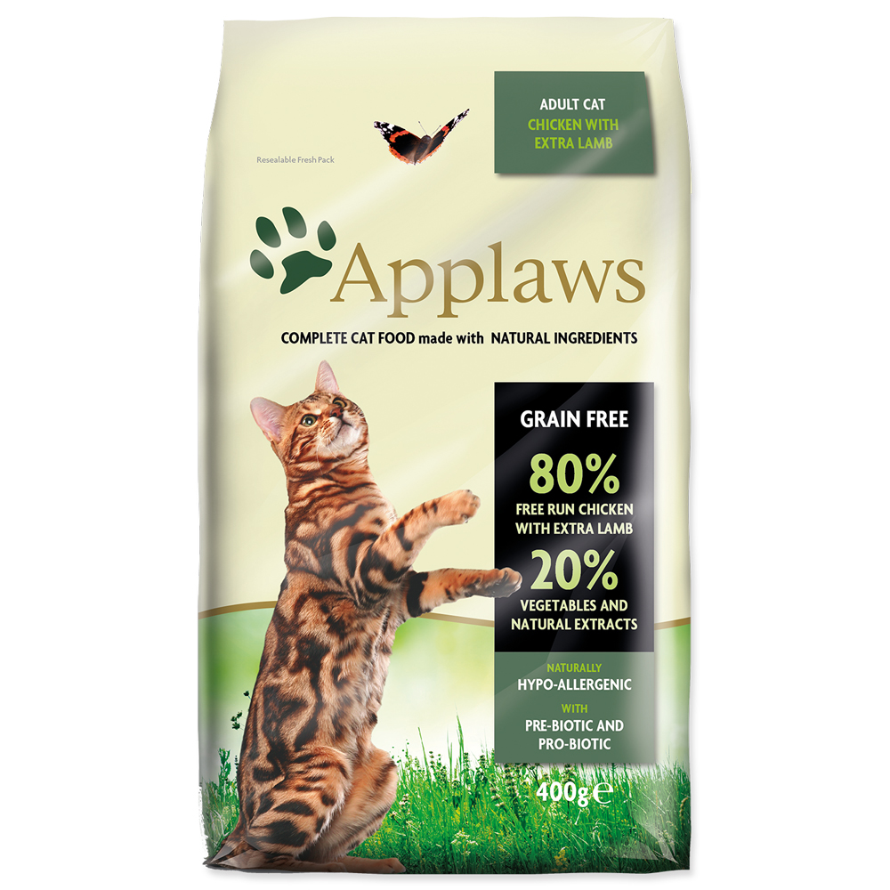 Krmivo Applaws Dry Cat kuře, jehně 400g