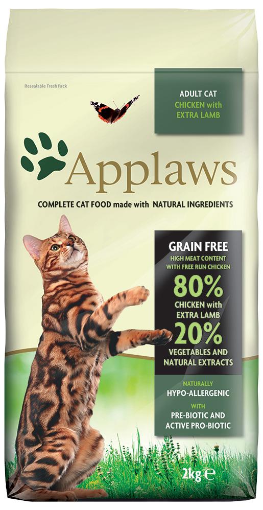 Krmivo Applaws Dry Cat kuře, jehně 2kg