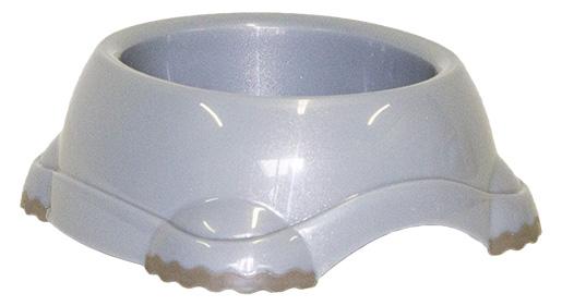 Miska DOG FANTASY plastová protiskluzová šedá 2200ml