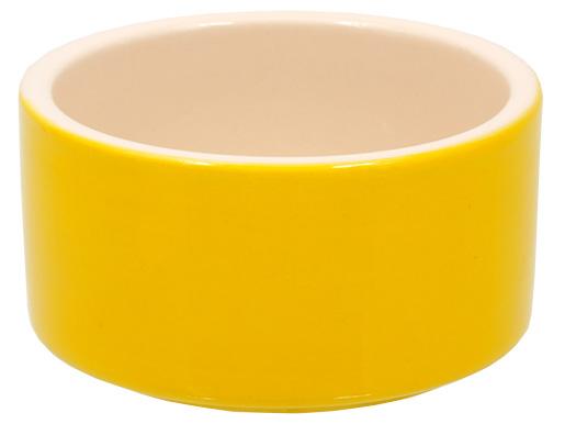 Miska SMALL ANIMAL keramická pro králíky žlutá 10 cm