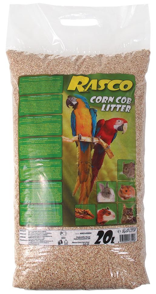 Podestýlka RASCO kukuřičná jemná 20l