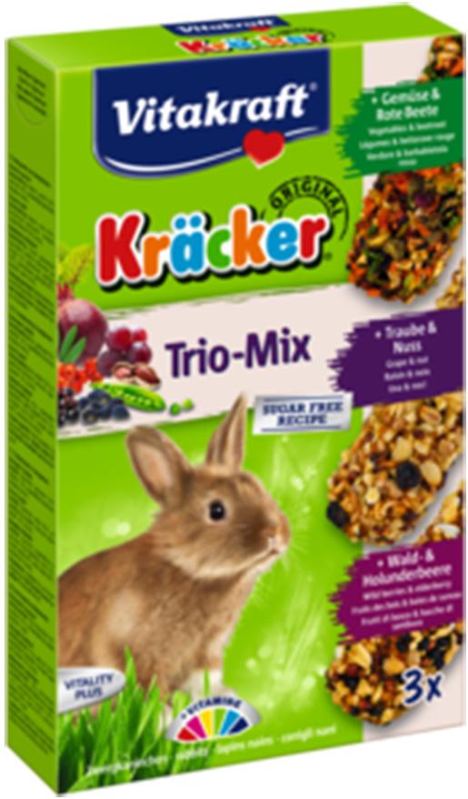 Kracker VITAKRAFT Rabbit Vegetables + Nuss + Fruit 3ks