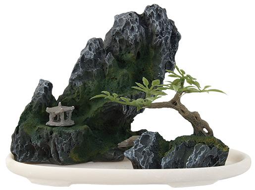 Dekorace AQUA EXCELLENT bonsai + skála 13 x 7 x 10 cm